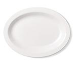 "Cambro 120CWP148 Oval Camwear Platter - 12x9"" White"