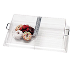"Cambro RD1826CWH135 Rectangular Display Cover - Hinged, 18x26"" Clear/Chrome"