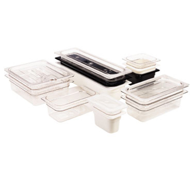 "Cambro 24LPCW148 Camwear Food Pan - Half Size Long, 4""D, White"