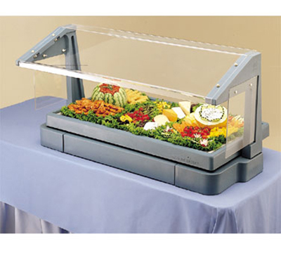 Cambro BBR720186 Tabletop Salad Bar - 5-Pans, Ice Pan, Sneeze Guard, Navy Blue