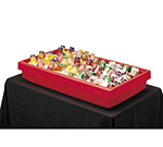 "Cambro BUF72158 Table Top Food Bar - 67.5x24x7"" 5-Pan Capacity, Hot Red"