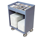 Cambro TC1418191 Tray & Silver Cart - Pans/Cover, Granite Gray