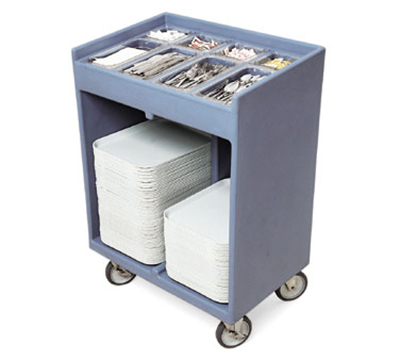 Cambro TC1418401 Tray & Silver Cart - Pans/Cover, Slate Blue