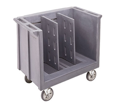 Cambro TDC30191 Adjustable Dish Cart - 2-Dividers, 500-lb Capacity, Granite Gray