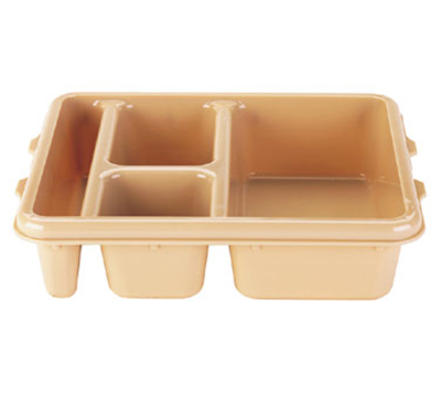 "Cambro 9114CW414 Rectangular Meal Delivery Tray - 5-Compartments, 9x11x2-1/2"" Polycarbonate, Teal"