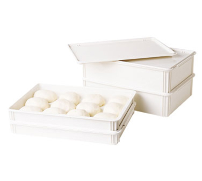 "Cambro DB18263P148 Pizza Dough Box - 26x18x3"" Polypropylene, White"