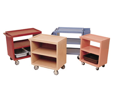 "Cambro BC2354S157 Service Cart - (3)21x32"" Shelves, (4)Swivel Castors, Coffee Beige"