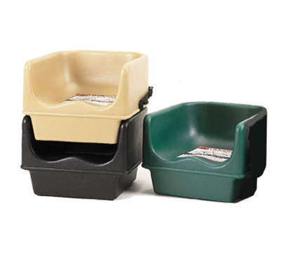 Cambro 100BCS157 Single Height Booster Seat with Strap - Coffee Beige