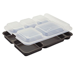 "Cambro 10146DCP414 Rectangular Camwear Separator Tray - 6-Compartment, 10x14-5/32"" Teal"