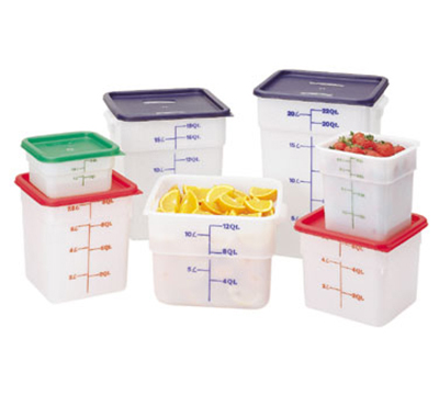 Cambro 18SFSP148 18-qt CamSquare Food Container - Polyethylene, Natural White