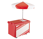 Cambro CVC55-110 Camcruiser Vending Cart -(1)Full-Size Well, Umbrella, Black/White