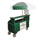 Cambro CVC72192 Camcruiser Vending Cart -(3)Full-Size Wells, Umbrella, Granite Green/White
