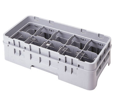 Cambro 10HC414184 Camrack Cup Rack with Extender - 10-Compartment, Half-Size, Beige