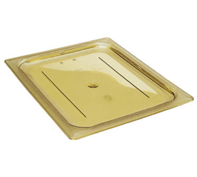 Cambro 20LPHPC150 H-Pan Food Pan Cover - Half Size Long, Flat, Non-Stick, Amber