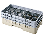Cambro 10HS318151 Camrack Glass Rack with Extender - 10-Compartments, Soft Gray