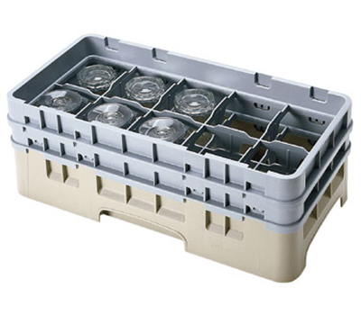 Cambro 10HS318119 Camrack Glass Rack with Extender - 10-Compartments, Sherwood Green