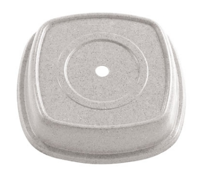 "Cambro 1212SQVS101 12-1/8"" Square Versa Plate Cover - Fits 12"" Syracuse Quadra, Antique Parchment"