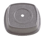 "Cambro 1212SQVS191 12-1/8"" Square Versa Plate Cover - Fits 12"" Syracuse Quadra, Granite Gray"