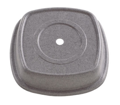 "Cambro 1111SQVS191 11-1/8"" Square Versa Plate Cover - Fits 11"" Syracuse Quadra, Granite Gray"