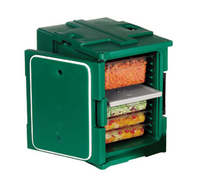 Cambro UPC400TR192 60-qt Camcarrier Pan Carrier - Tamper-Resistant, Front Loading, Granite Green