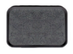 "Cambro 1418VC382 Rectangular Versa Camtray - 14x18"" Black/Pebbled Black"
