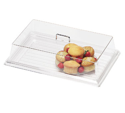 "Cambro RD926CW135 Rectangular Display Cover - 9x26"" Clear/Chrome"