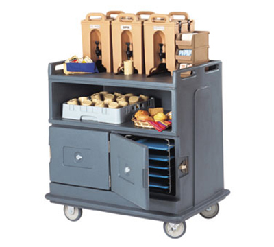 Cambro MDC24191 Beverage Service Cart - Recessed Top, Granite Gray