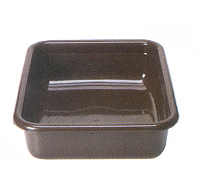 "Cambro 1520CBPF131 Cambox Bus Box - 15-5/16x20x5"" Flat Bottom, Dark Brown"