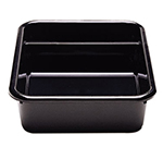 "Cambro 1621CBP110 Cambox Bus Box - 2-Compartment, 15-5/8x20-1/2x5"" Hi-Gloss, Black"