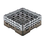 "Cambro 16S900151 Camrack Glass Rack - (4)Extenders, 16-Compartment, 9-3/8""H Soft Gray"