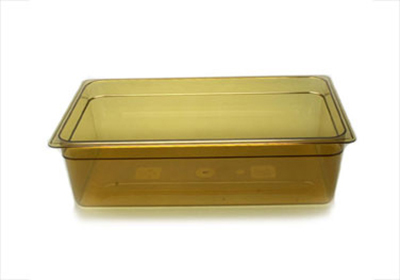 "Cambro 16HP150 H-Pan Food Pan - Full Size, 6""D, Non-Stick, Amber"