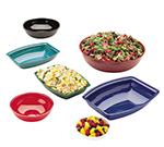 "Cambro RSB18CW135 18"" Round Camwear Bowl - 20.2-qt Capacity, Clear"
