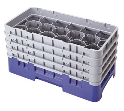 Cambro 17HS800119 Camrack Glass Rack - (4)Extenders, 17-Compartment, Sherwood Green
