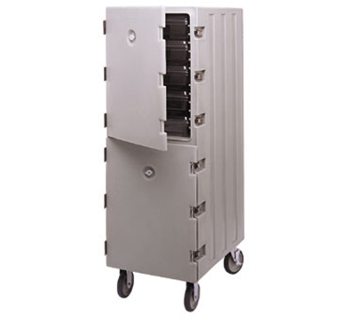 Cambro 1826DBC180 Double Camcart Food Storage Box Cart - Gray