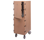 Cambro 1826DBCSP157 Double Camcart Food Storage Box Cart - Security Package, Coffee Beige
