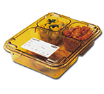 Cambro 853FHC150 Tray-on-Tray Lid - Amber