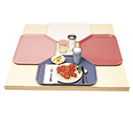 "Cambro 1418TR410 Trapezoid Camtray - 14x18"" Raspberry Cream"