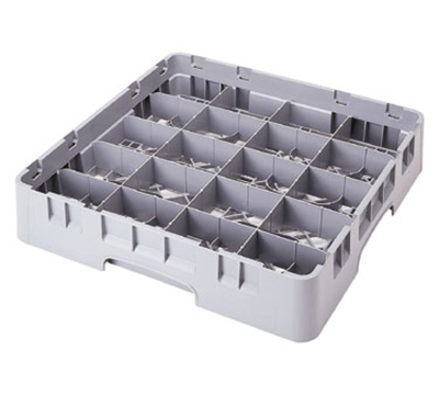 Cambro 20C258151 Camrack Cup Rack - Full Size, 20-Compartment, Soft Gray