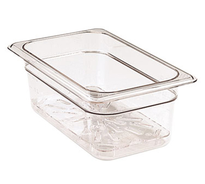 Cambro 60CWD135 Camwear Food Pan Drain Shelf - 1/6 Size, Clear