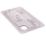 Cambro 30CWLN135 FlipLid Food Pan Cover - 1/3 Size, Notched, Hinged, Clear