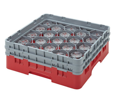 Cambro 20S434163 Camrack Glass Rack - (2)Extenders, 20-Compartment, Red
