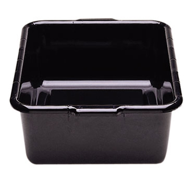 "Cambro 21157CBR110 Cambox Bus Box with Handle - 15x20x7"" Hi-Impact, Black"