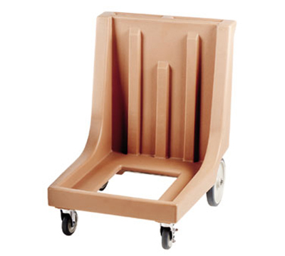 "Cambro CD300HB157 Camdolly with Handle - 29-7/8x23-1/2x36-1/2"" 350-lb Capacity, Coffee Beige"