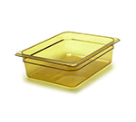 "Cambro 24HP150 H-Pan Food Pan - Half Size, Non-Stick, 4""D, Amber"