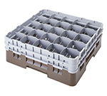 Cambro 25S534414 Camrack Glass Rack - (2)Extenders, 25-Compartment, Low Profile, Teal