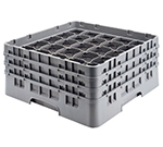 Cambro 25S800110 Camrack Glass Rack - (4)Extenders, 25-Compartment, Black