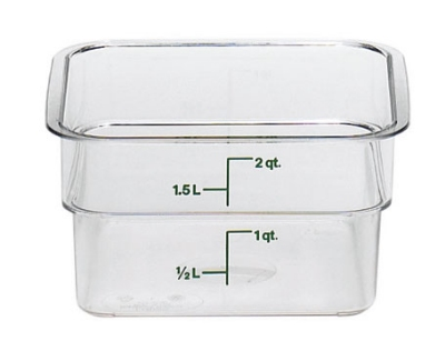 Cambro 2SFSCW-135 2-qt CamSquare Food Container - Clear