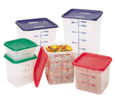 Cambro 18SFSPP190 18-qt CamSquare Food Container - Polypropylene, Translucent