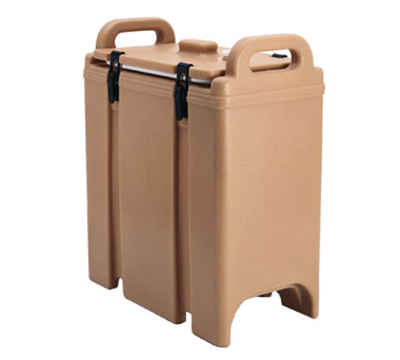 Cambro 350LCD157 3-3/8-gal Camtainer Soup Carrier - Insulated, Coffee Beige