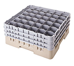 Cambro 36S738184 Camrack Glass Rack - (3)Extenders, 36-Compartment, Low Profile, Beige